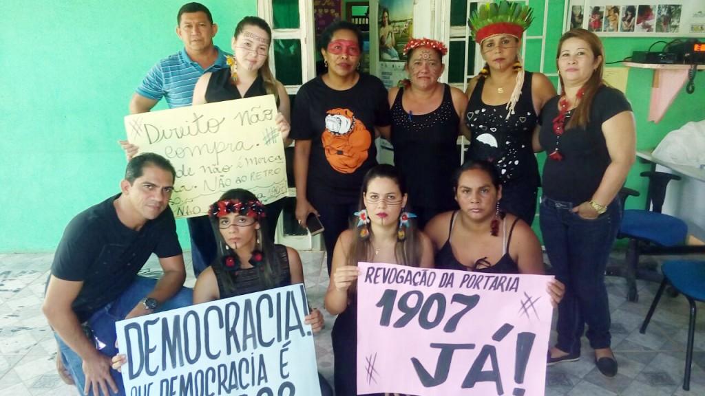 Em Humaitá, índios ocuparam a sede do Dsei (Foto: Nilcélio Ramos)