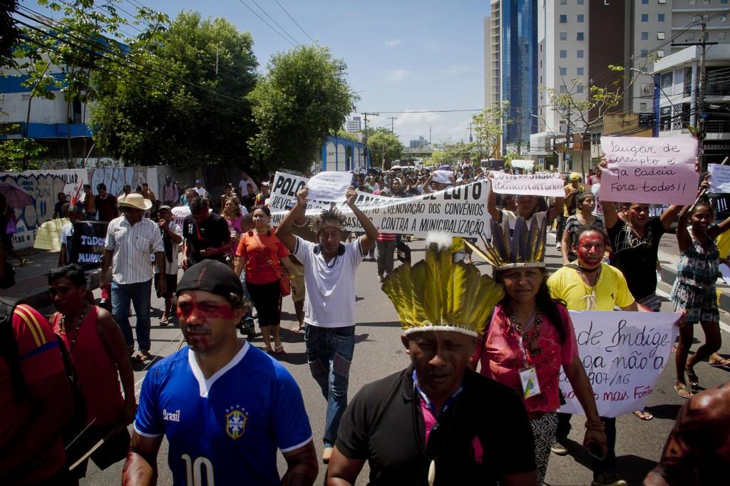 Protesto em Manaus reuniu mais de 450 pessoas (Foto: Alberto César Araújo/Amazônia Real)