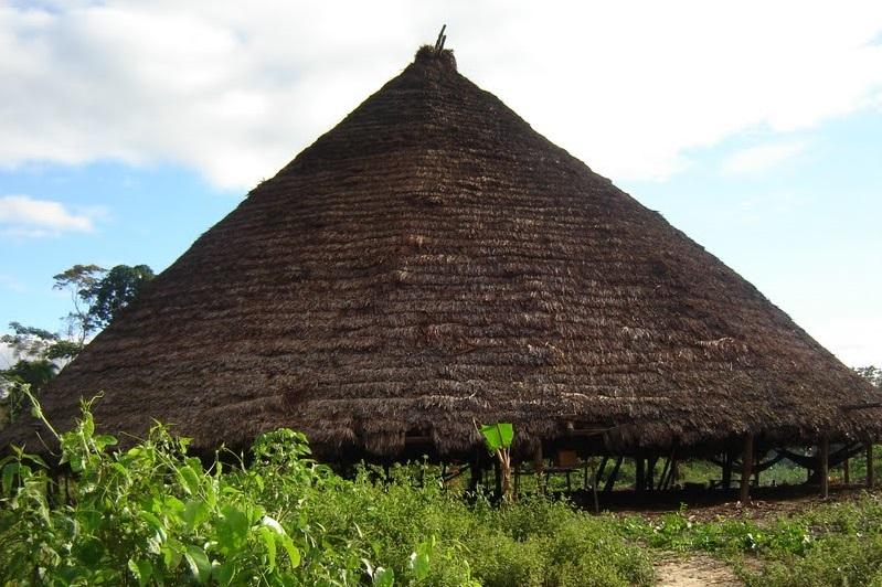 Maloca da etnia Suruwahá, monitorada pela Frente Madeira Purus (Foto? CIMI)