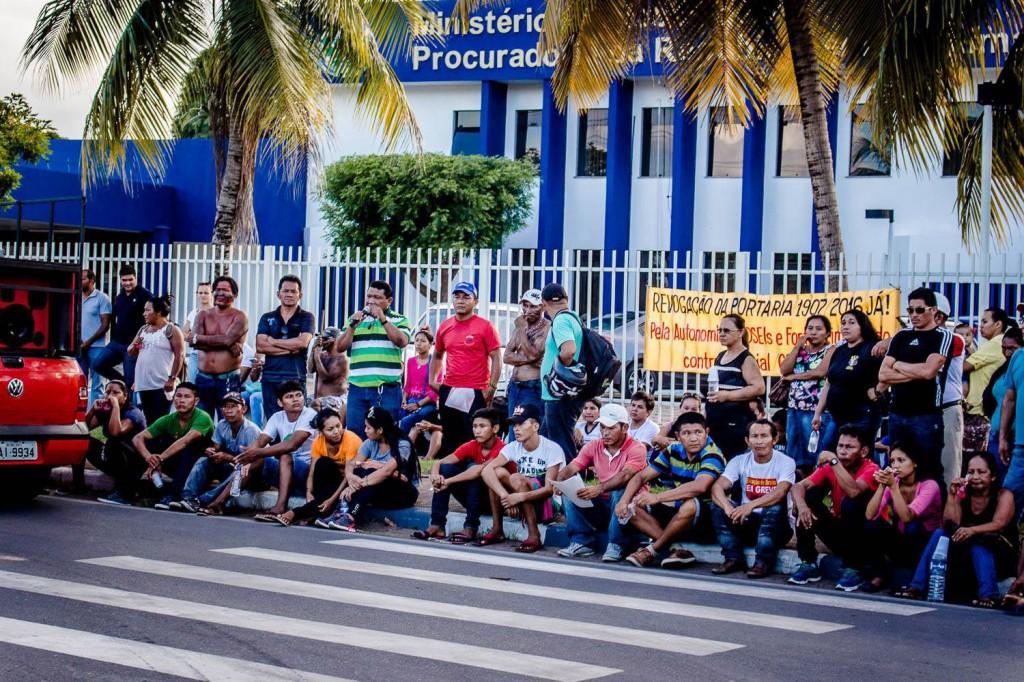 Povos indígenas  em protestos em Boa Vista (RR). (Foto: Yolanda Simone Mêne)