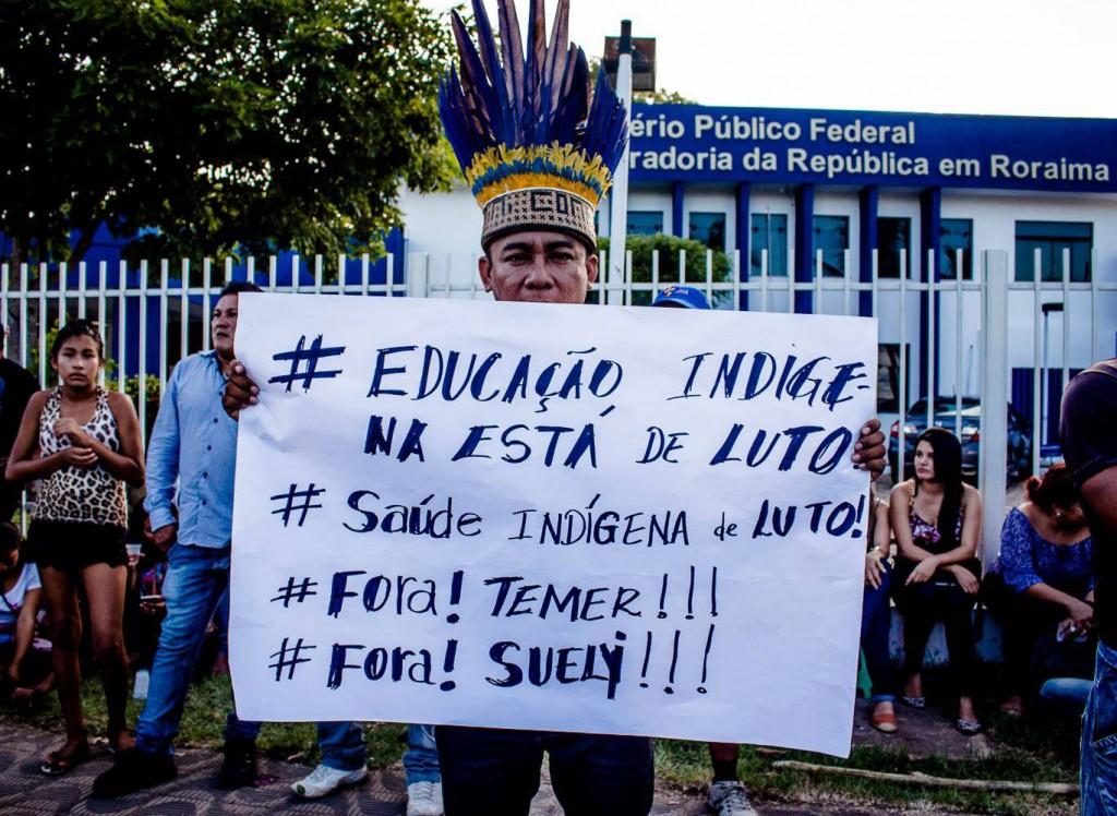 Protestos se intensificaram em várias cidades como Boa Vista (RR). Foto: Yolanda Simone Mêne.