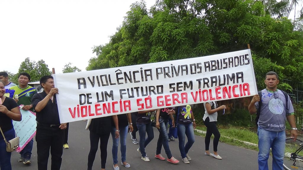 A falta de segurança pública, a violação dos direitos dos Povos foram temas no protesto.(Fotos: Ray Baniwa/Foirn)