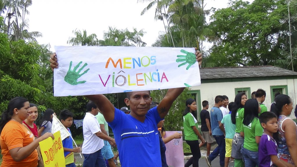 Em São Gabriel da Cachoeiraa população clamou por Justiça (Fotos: Ray Baniwa/Foirn)
