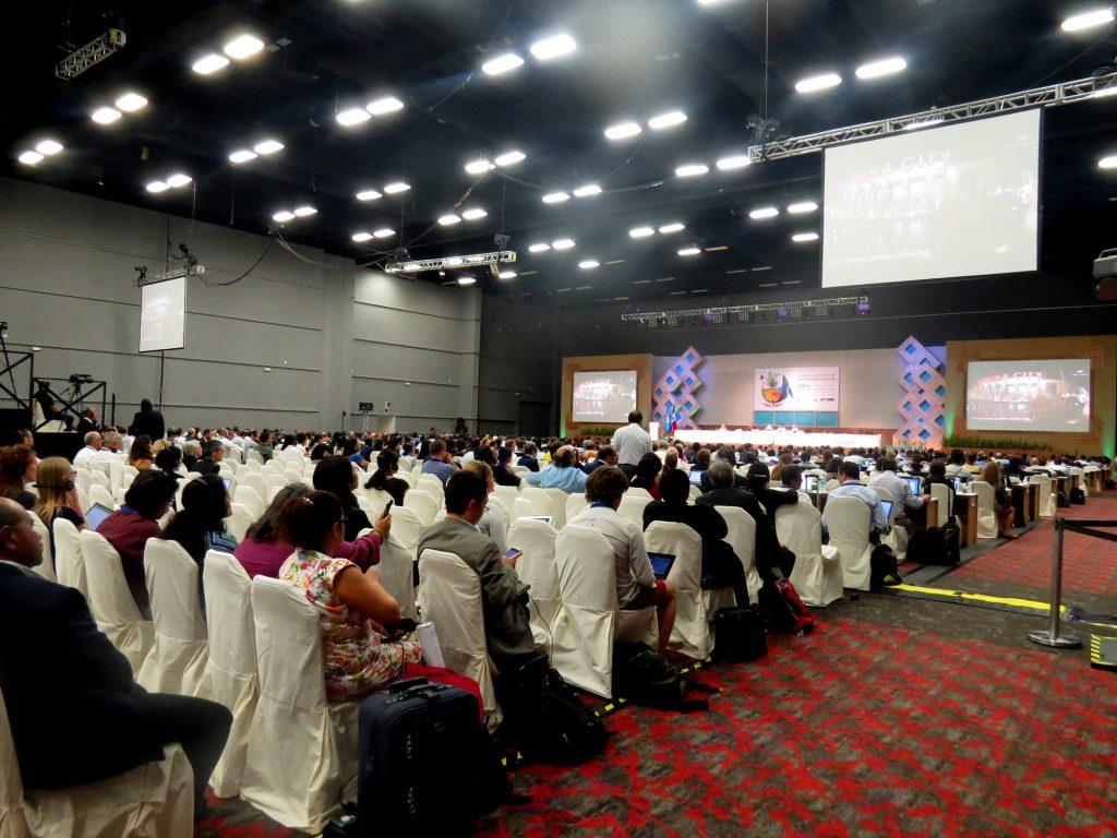 Planária da COP13 em Cancún, no México (Foto: Elaíze Farias/Amazônia Real)