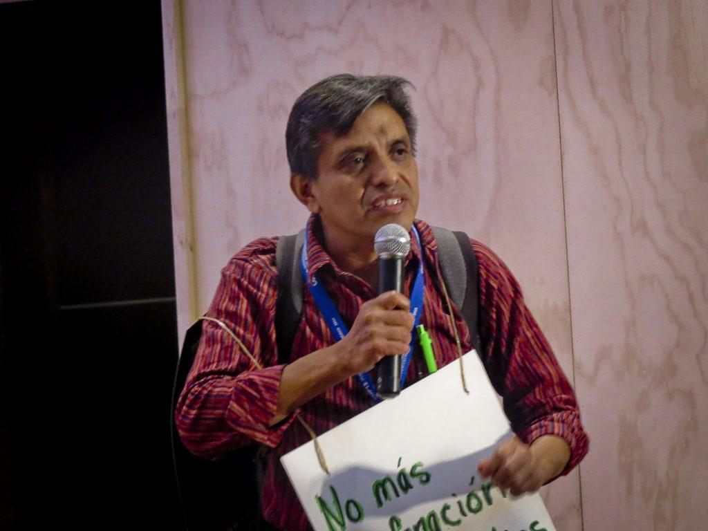 O indígena Felipe Gomez, da da etnia Maya Kiche, da Guatemala (Elaíze Farias/Amazônia Real)