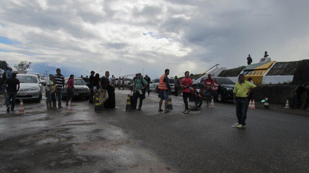 Fronteira da Venezuela com o Brasil fechada em 19 de dezembro (Foto: Cora Gonzalo/Amazônia Real)