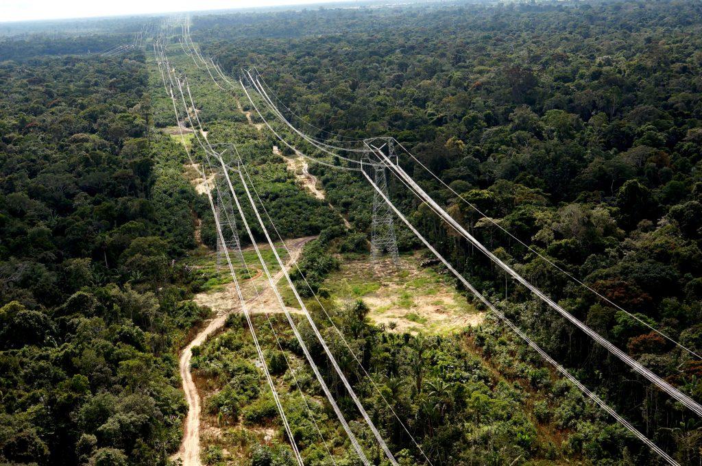 """O """"Linhão do Madeira"""" da Usina Hidrelétrica Jirau, em Porto Velho  (Foto: Energia Sustentável do Brasil-Divulgação)"""