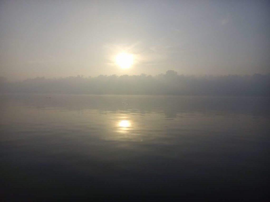 Fumaça poluiu o meio ambiente no Amapá (Foto: Diogo Barbosa)
