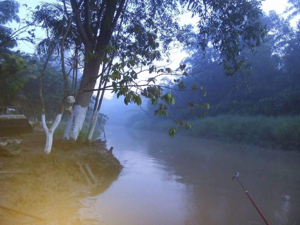 Fumaça das queimadas no Amapá (Foto: Diogo Barbosa)