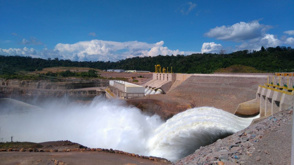 Hidrelétrica de Teles Pires, em Mato Grosso (Foto: UHE TELES PIRES/Divulgação)
