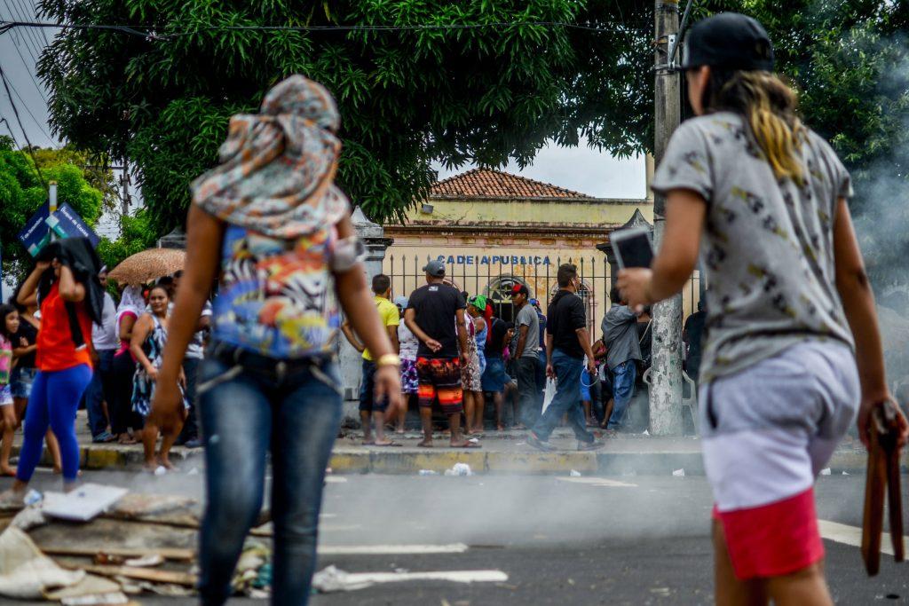 Familiares fazem protestos depois da matança de presos na Raimundo Vidal (Foto: Christian Braga/Jornalistas Livres)