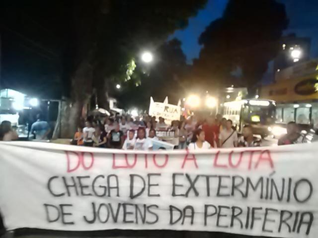 Protesto contra a chacina em 2015, em Belém (Foto: Marcus Benedito)