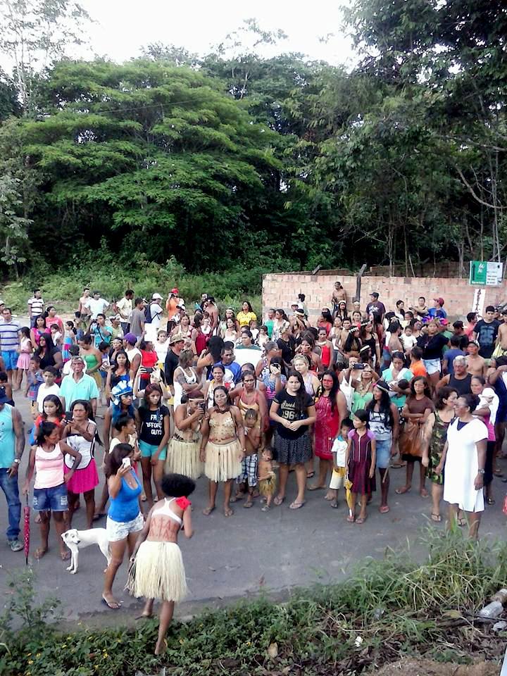 Protesto contra a reintegração de posse (Foto: Joilson Paulino)