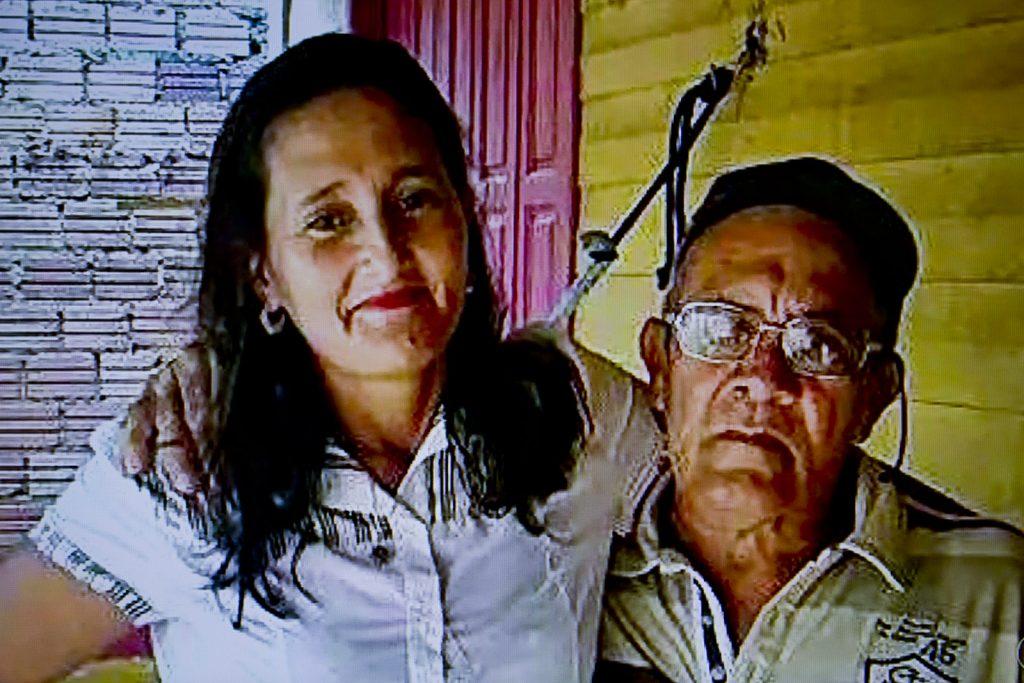 Aldelena e o marido Luiz Carril (Foto: Reprodução TV Amazonas)