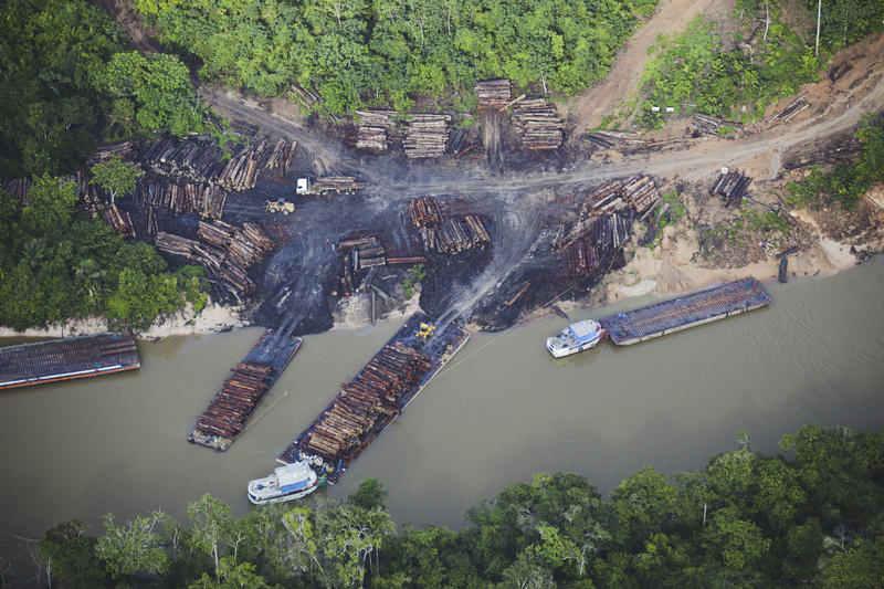 Desmatamento no entorno da BR 163 (Foto Daniel Beltra/Greenpeace)