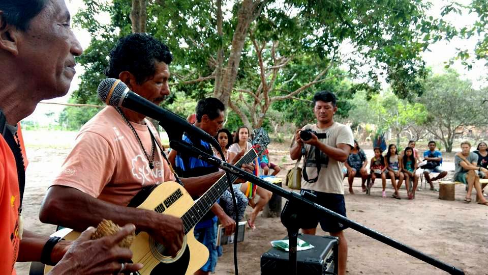 Encontro dos povos indígenas do Baixo Tapajós na aldeia Aningalzinho (Foto: CGI/Facebook)