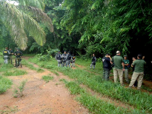 Operação na reserva Uru-Eu em 2016 (Foto: Kanindé)