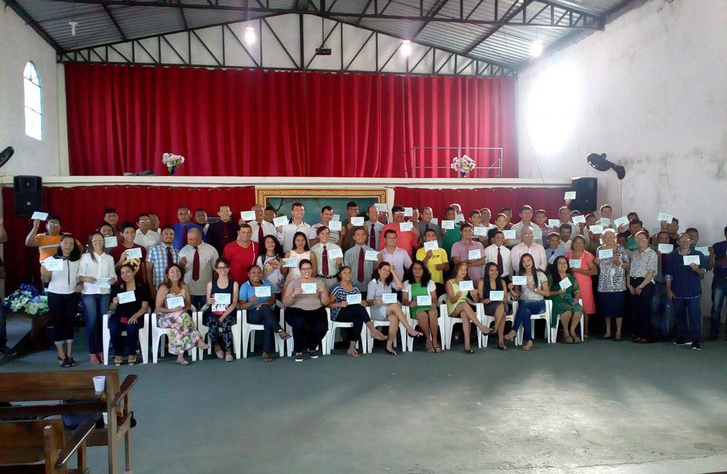 FOTO PARA DEESTAQUE -  Formandos Wai-Wai do curso da doutrina Batista  - Foto Renan Albuquerque
