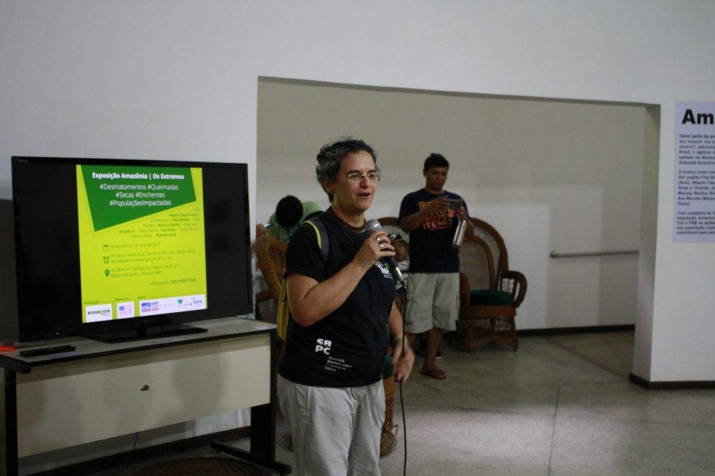 Pesquisadora Rita Mesquita, coordenadora de Extensão do INPA (Foto: Alberto César Araújo/Amazônia Real)