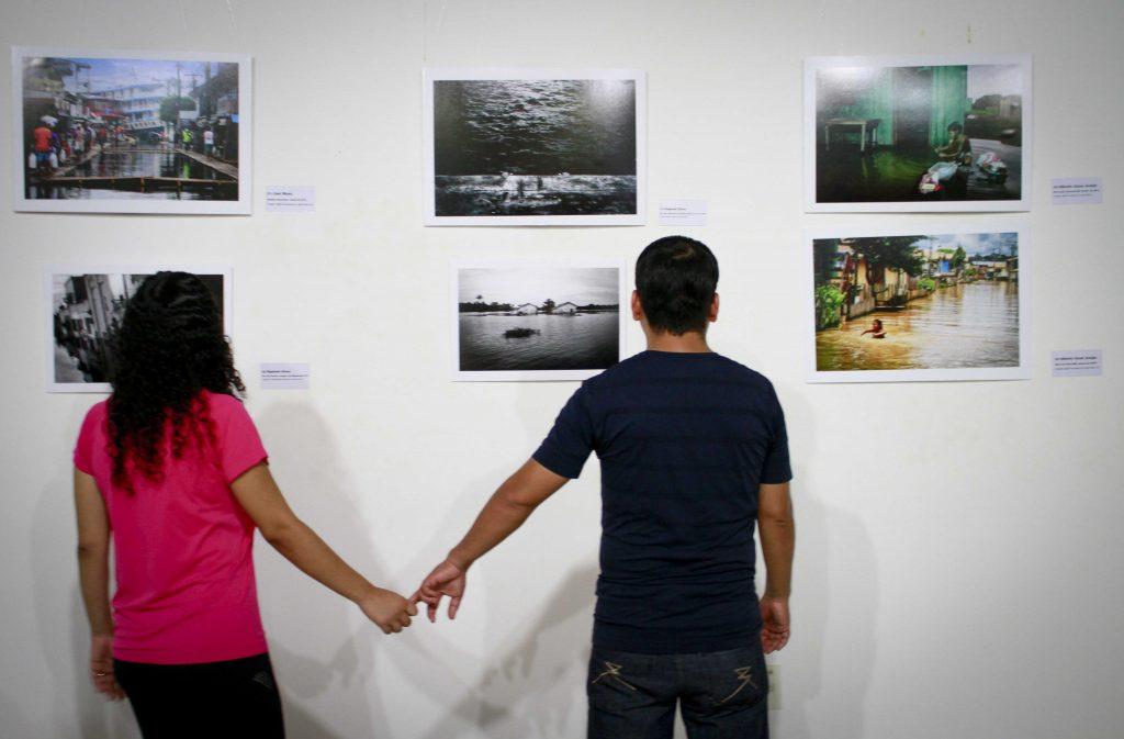 Exposição de fotografia Amazônia | Os Extremos, realizada pela Agência de Jornalismo Independente Amazônia Real, começou no domingo (9) e vai até 7 de maio no Paiol da Cultura do Bosque da Ciência do Instituto Nacional de Pesquisas da Amazônia (INPA), na zona sul de Manaus (Foto: Alberto César Araújo/Amazônia Real)