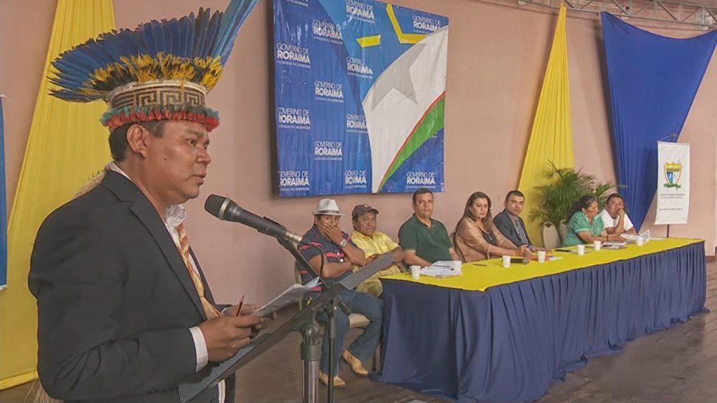O secretário estaduall do Ìndio, Dilson Ingarikó (Reprodução TV Amazonas)
