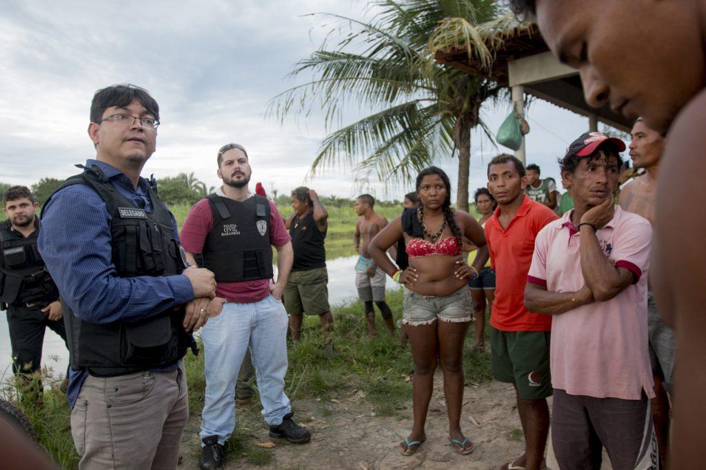 Ataque aos índios Gamela, no Maranhão (Foto: Ana Mendes/Amazônia Real)