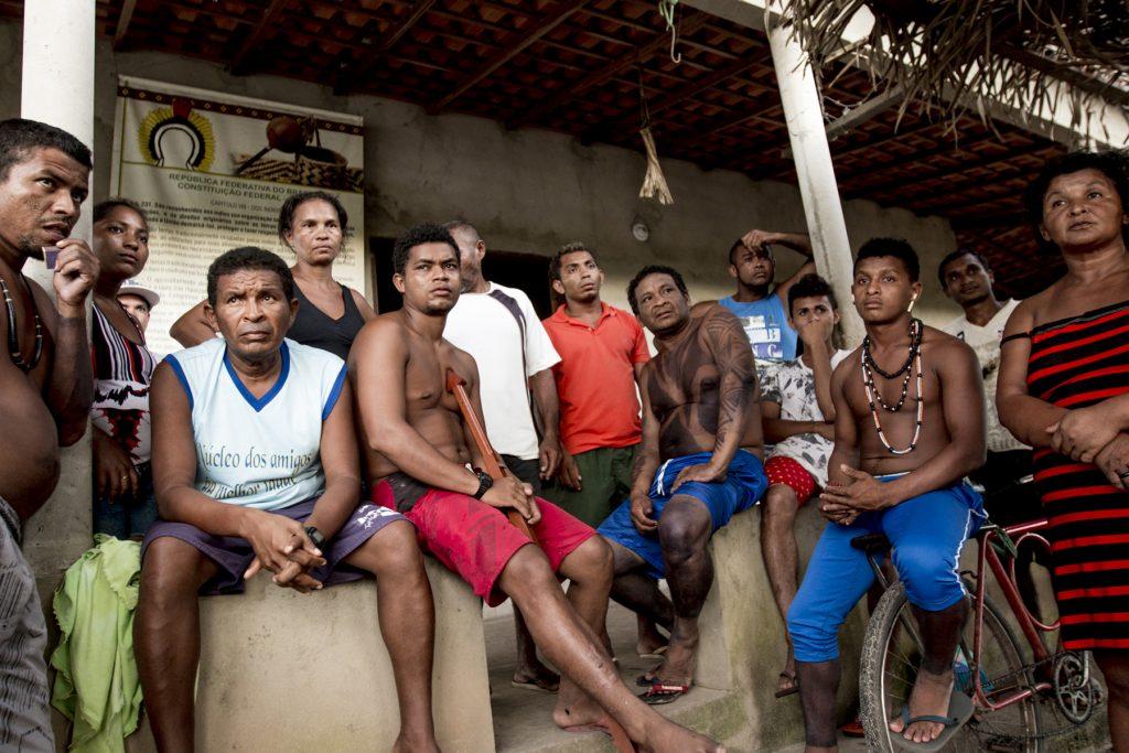 Indígenas Gamela da aldeia Cajueiro Piraí, localizada em território retomado em 2015 (Foto: Ana Mendes/CIMI)