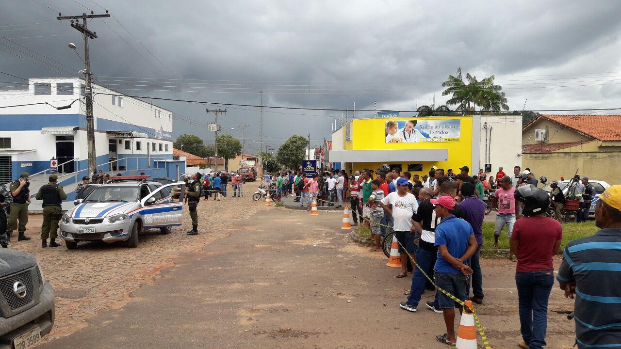 A cidade de Pau D´Arco no dia da chacina na fazenda Santa Lúcia 1 (Foto: MPE do Pará)