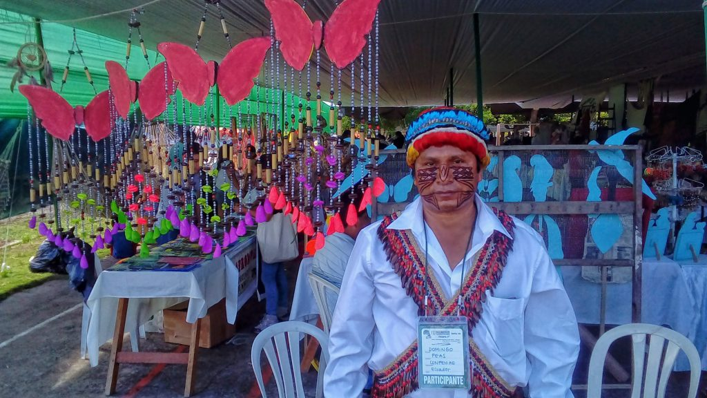 Domingos Peas, liderança indígena Achuar da Amazônia equatoriana. (Foto:Fábio Zuker/Amazônia Real)