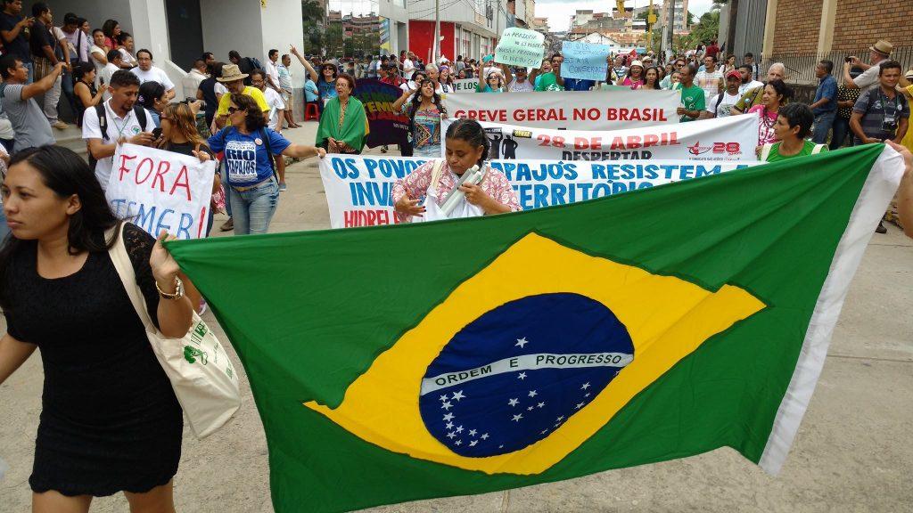 Participantes brasileiros no Fórum Social Panamazônico (Foto: Fospa Peru)