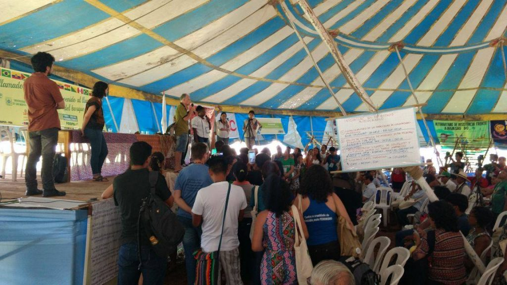 Participantes do Fórum Social Panamazônico (Foto: Fospa Tarapoto)
