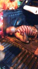 Índio Gamela ferido com faca teve a mão decepada (Foto reprodução celular)