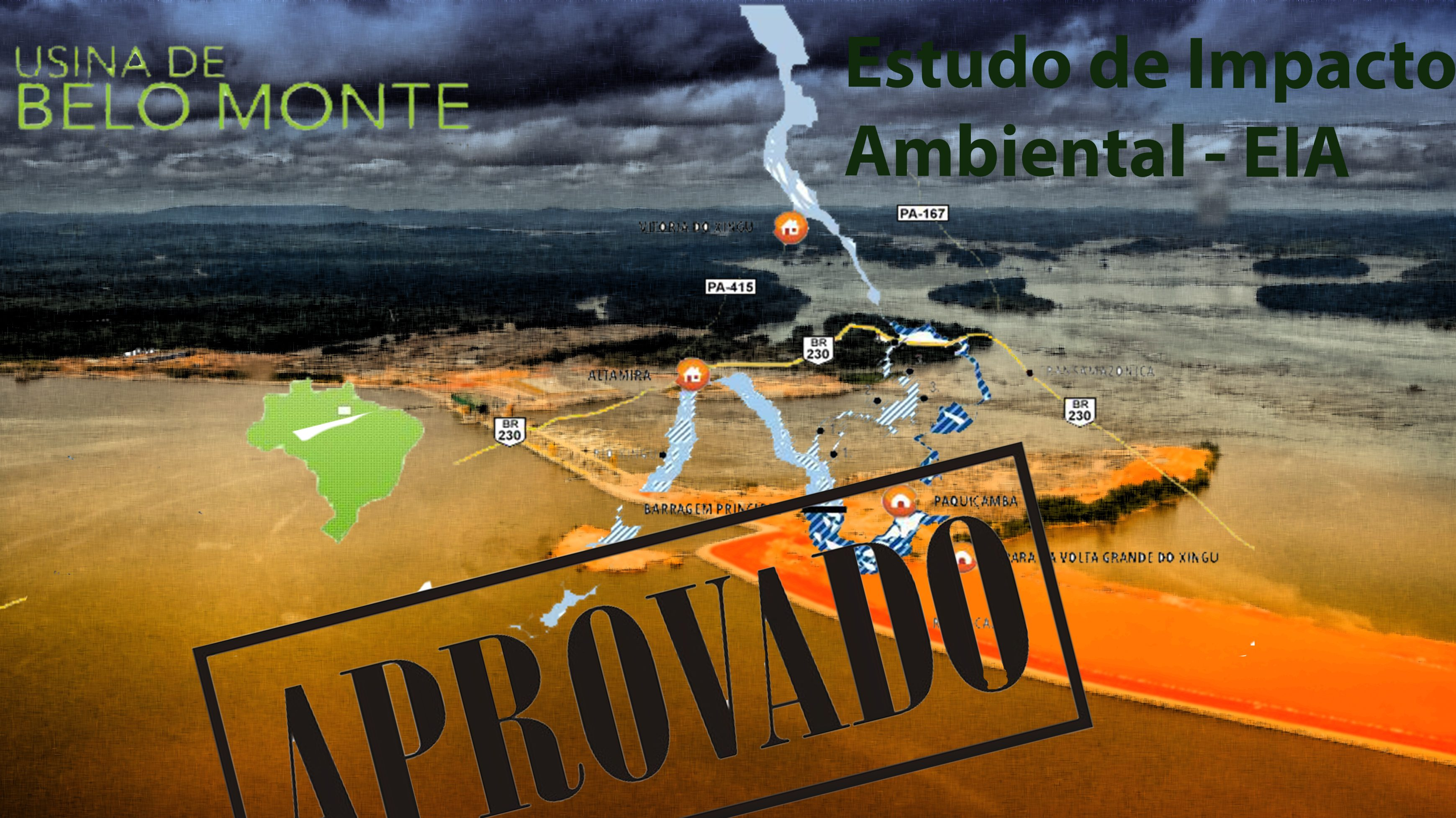 """Desinformação no EIA de Belo Monte: 4 – Barragens como """"energia limpa"""""""