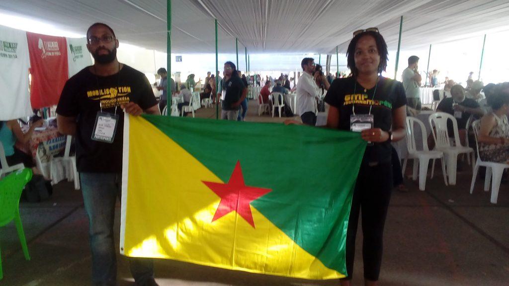 Jean Georges Maïas e Ninsey Kramer, do MDES (Foto: Fábio Zucker/Amazônia Real)