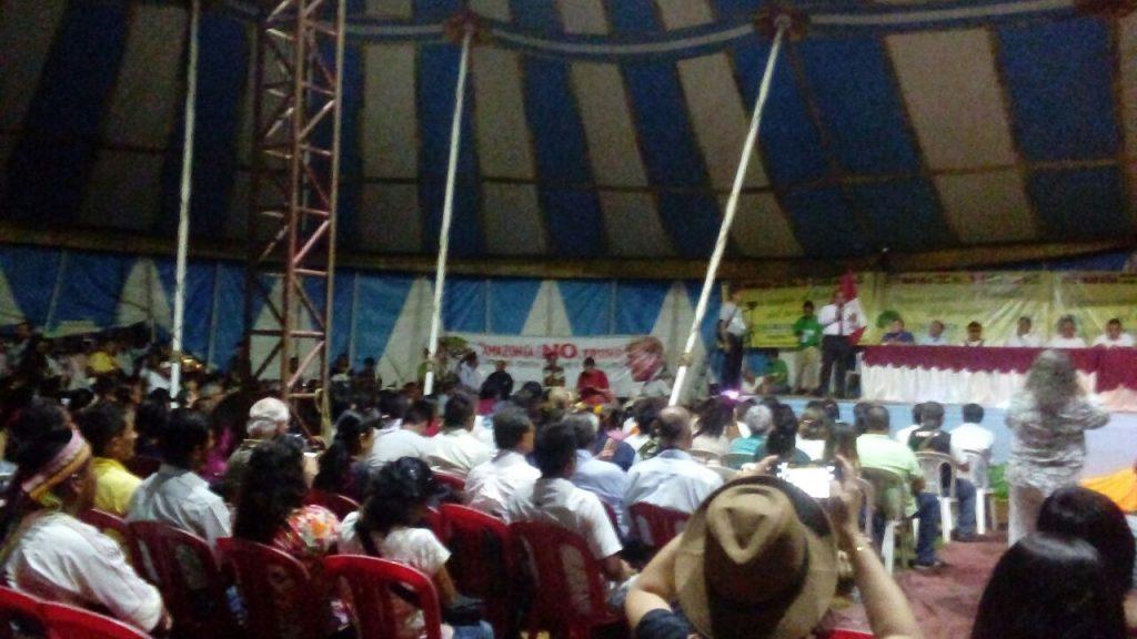 Plenária do Fórum Social Panamazônico no Peru (Foto: Fospa)