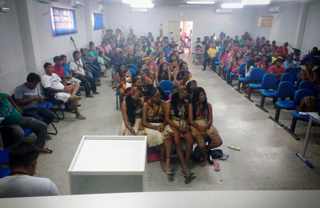 Lideranças indígenas no seminário em Alta Floresta, no Mato Grosso (Caio Mota)