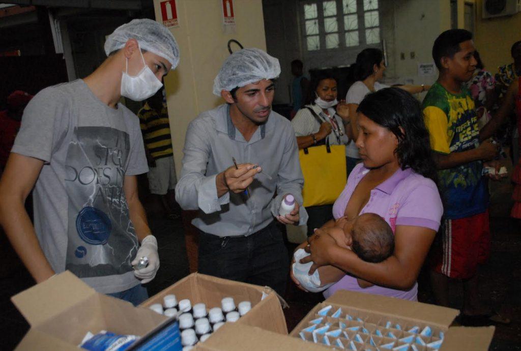 Atendimento de saúde pela Prefeitura de Manaus (Foto: Semsa)