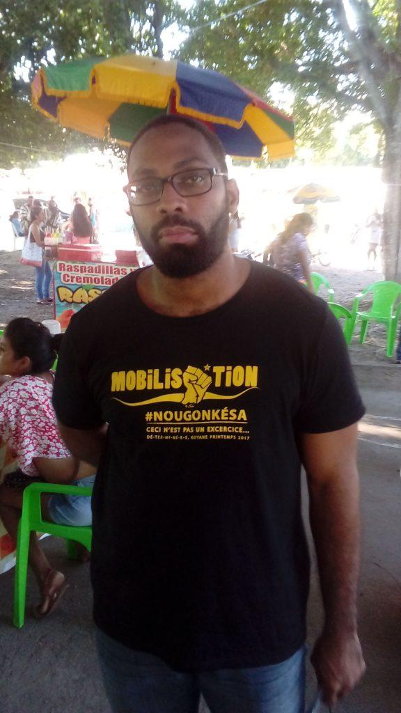 Jean Georges Maïas, técnico de informática. membro da delegação do MDES (Foto: Fábio Zucker/Amazônia Real)