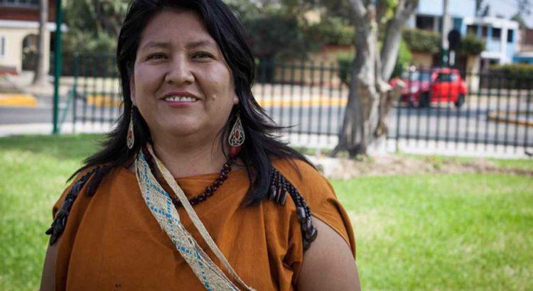 Ketty Marcelo Lopez, indígena Ashaninka de Pucharini, e presidenta da Onamiap (Foto: Fospa Divulgação)