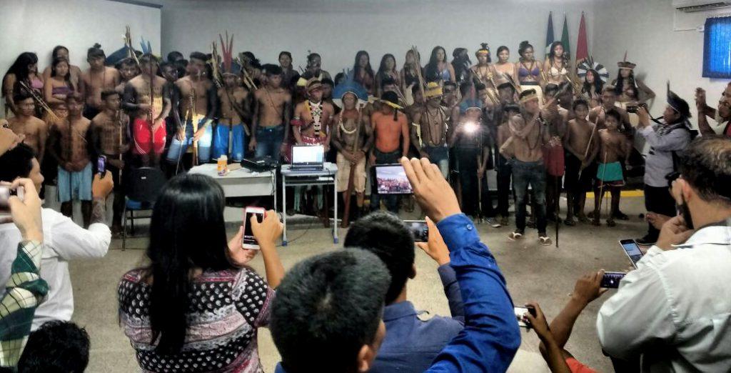 Seminário em Alta Floresta, em Mato Grosso (Foto: Darlisson Apiaká)