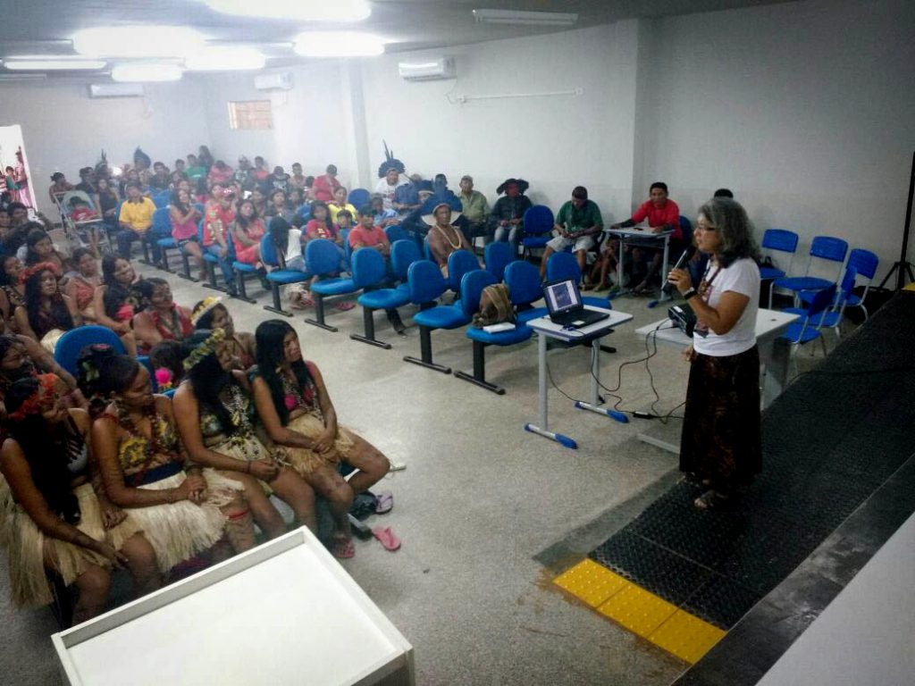 Seminário com povos indígenas atingidos pela barragem de Teles Pires (Foto: Darlisson Apiaká)