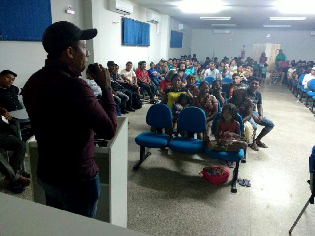 Indígenas denunciaram irregularidades no programa ambiental de Teles Pires (Foto: Darlisson Apiaká)