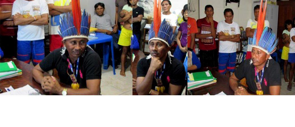 Raimundo Sobrinho com cocar que não é da etnia Waimiri Atroari (Foto: PWA)