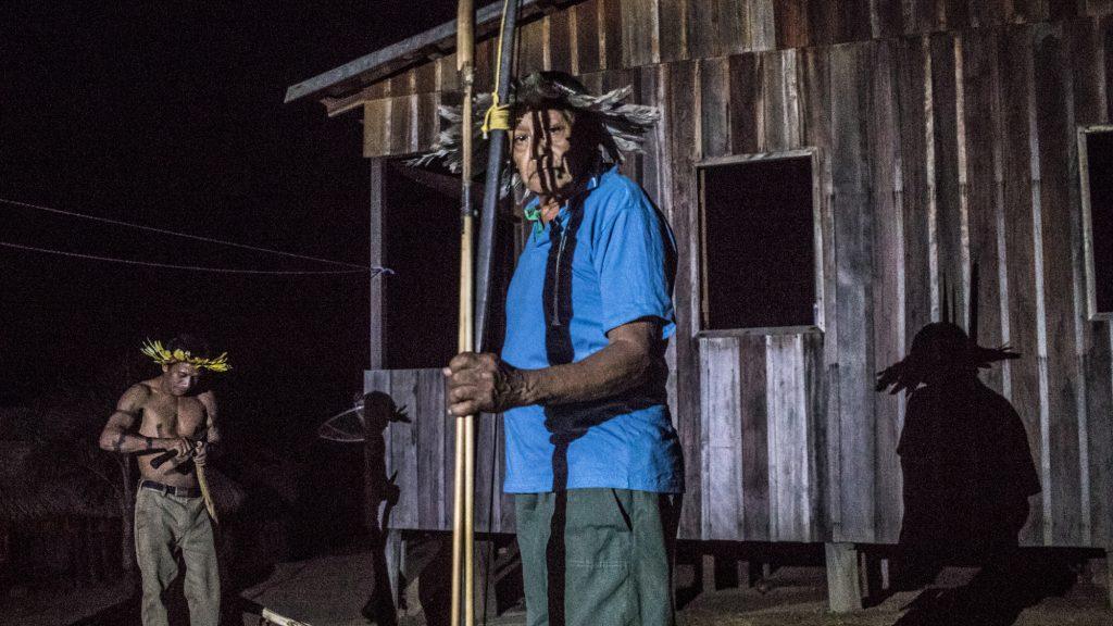 O guerreiro Aruká Juma (Foto: Gabriel Uchida/Amazônia Real)