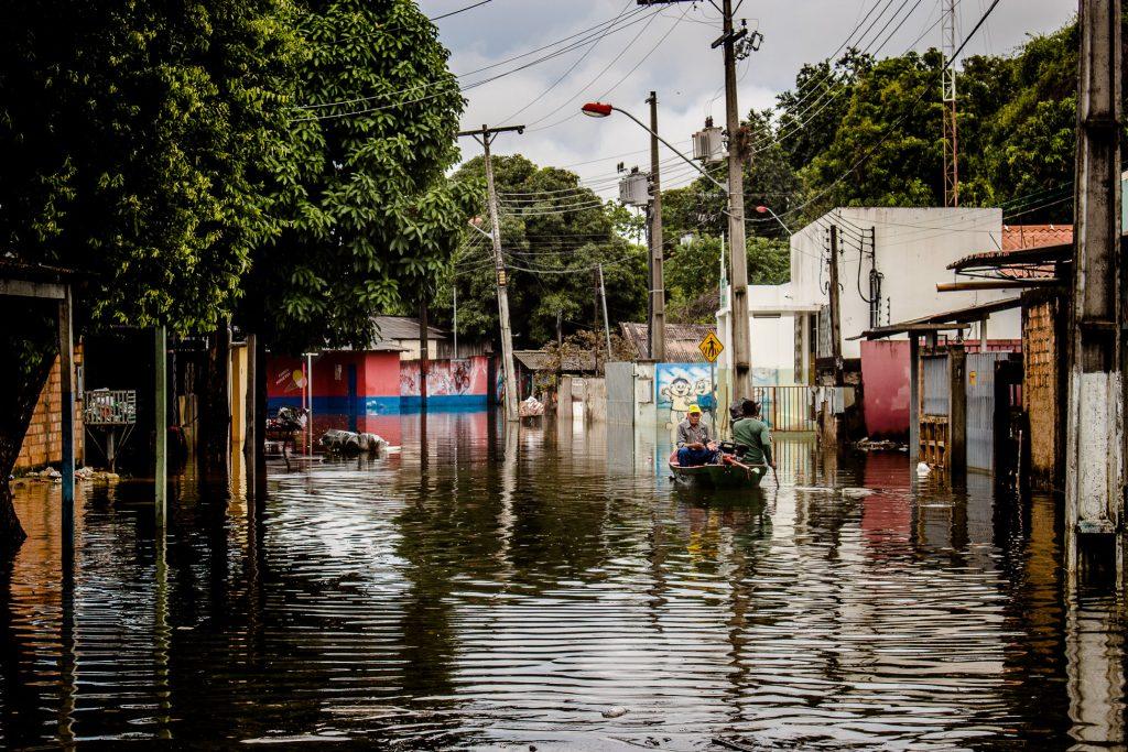 Enchente no Beiral, no centro de Boa Vista (Foto: Yolanda Simone/Amazônia Real)