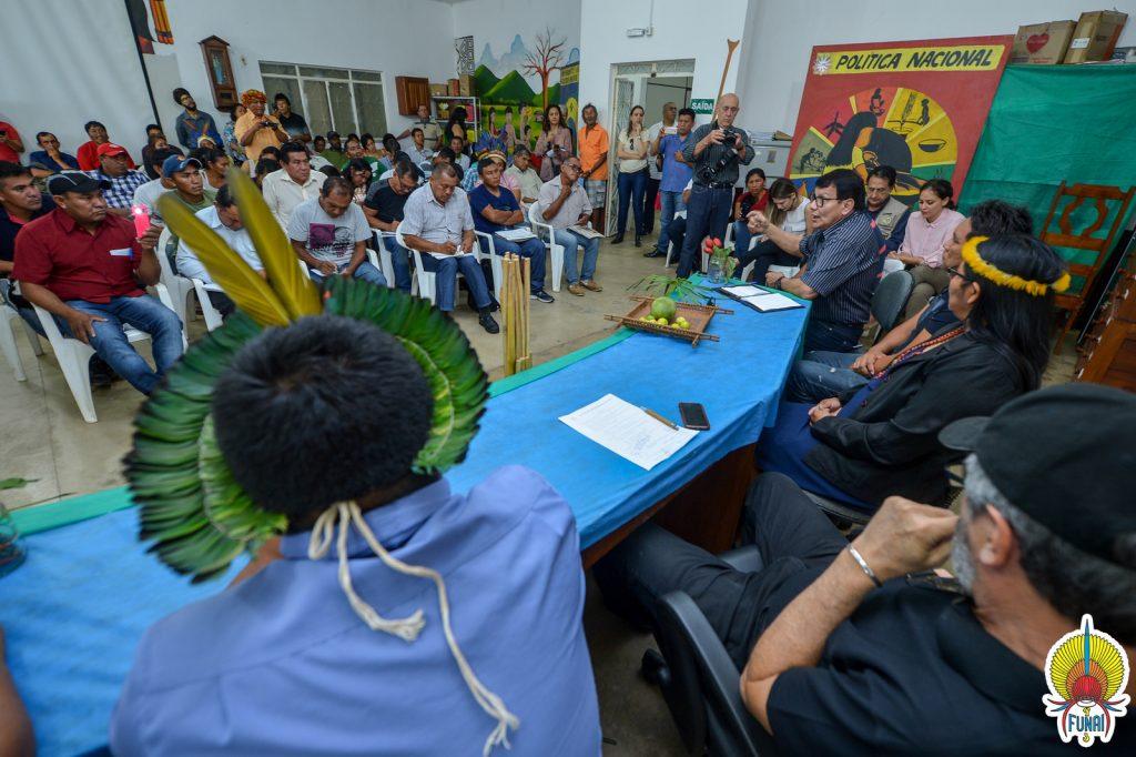 Reunião com Conselho Indígena de Roraima (Foto: Mário Vilela/Funai)