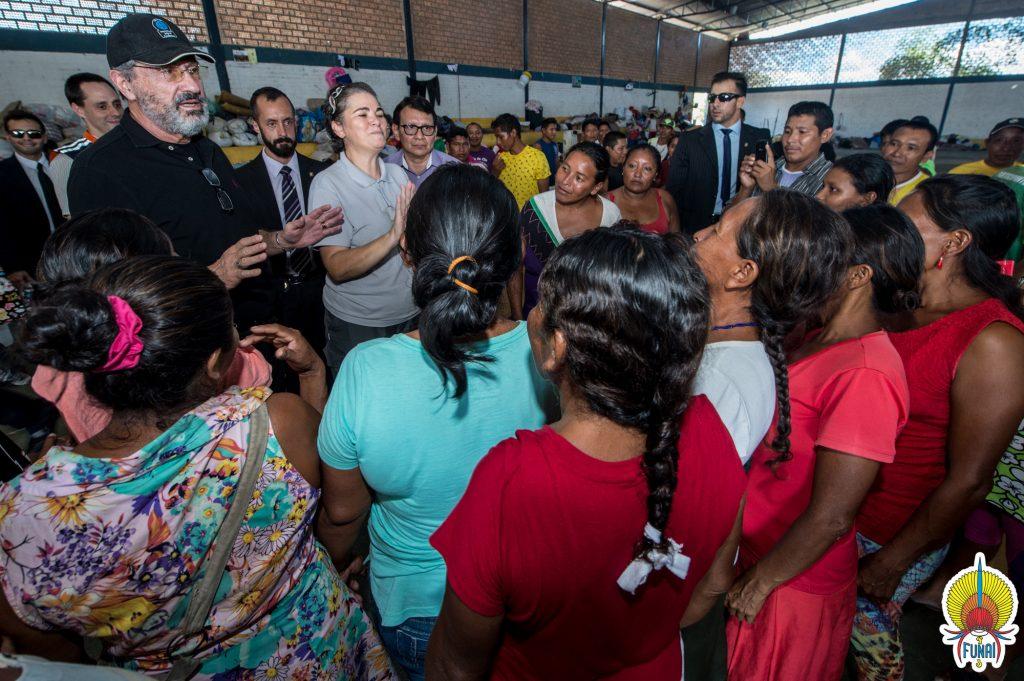 Em Boa Vista, o ministro visitou o abrigo Centro de Referência ao Imigrante (Foto: Mário Vilela/Funai)