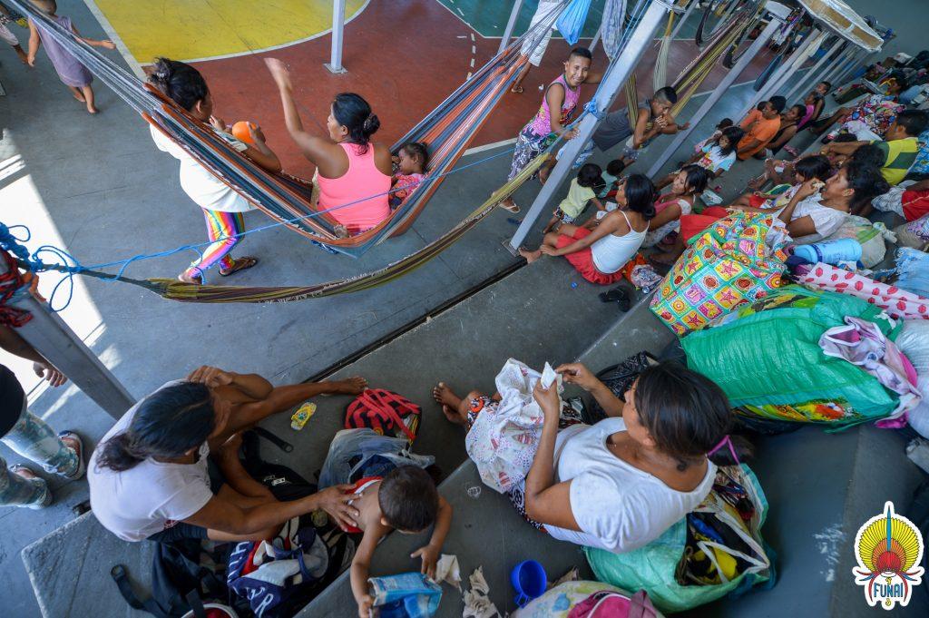 Índios Warao no Centro de Acolhimento ao Imigrante de Manaus (Foto: Mário Vilela/Funai)