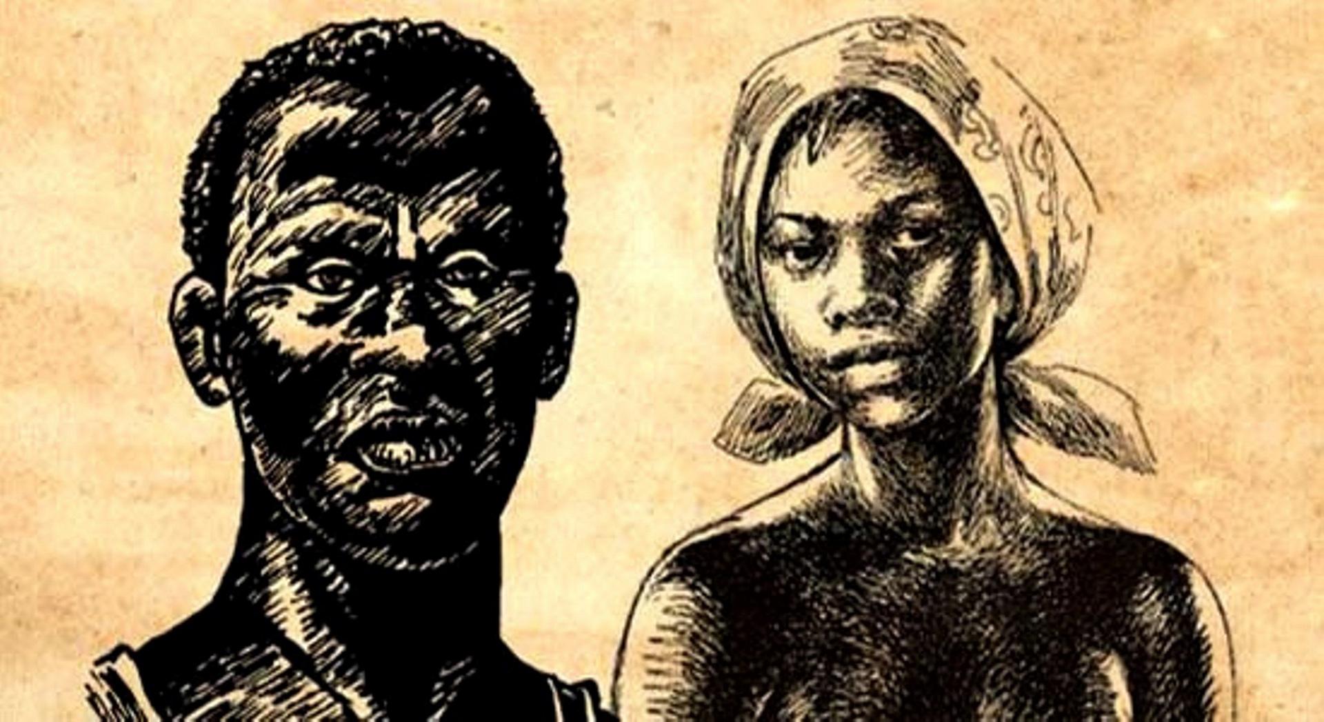 Zumbi e Dandara. Ilustração: reprodução