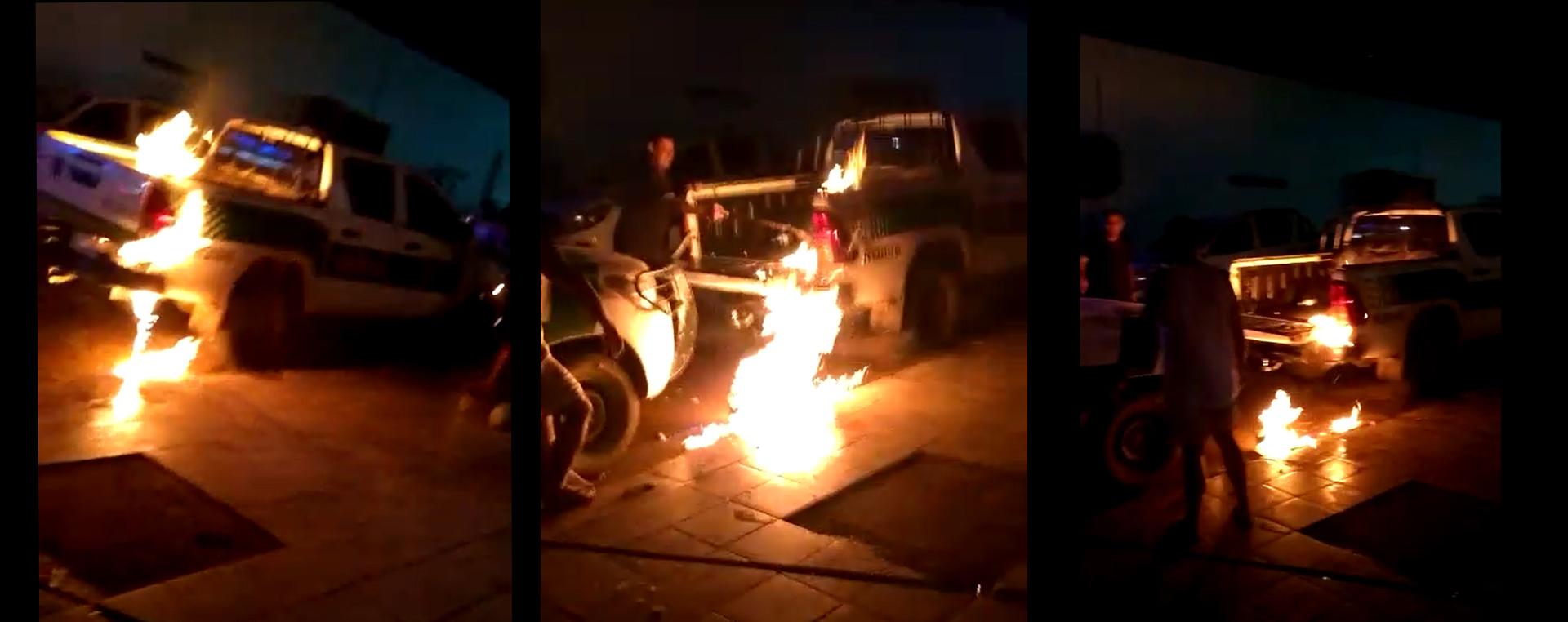 Homem ataca com fogo veículos do Ibama e diz que foi por vingança, em Rondônia